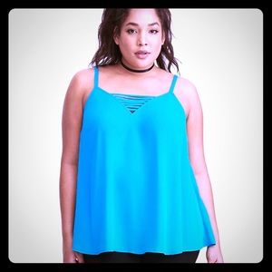 Turquoise Blue Torrid 3 Strappy Cami Tank Top New
